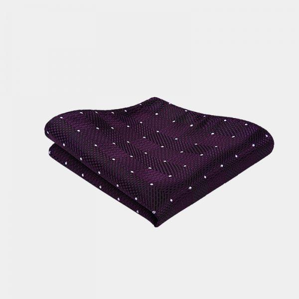 Dark Purple Dotted Bow Tie And Suspenders Set from Gentlemansguru.com