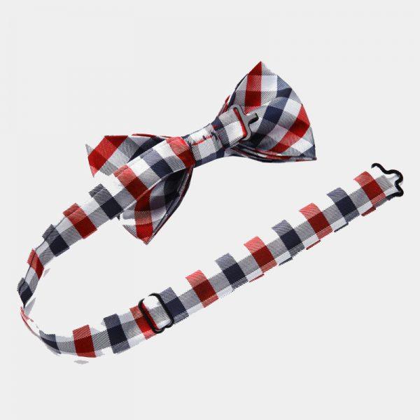 Red Checkered Bow Tie Set from Gentlemansguru.com