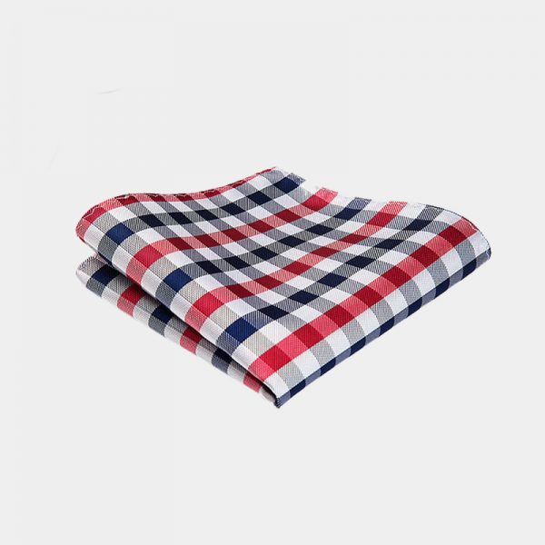 Red Checkered Pocket Square from Gentlemansguru.com
