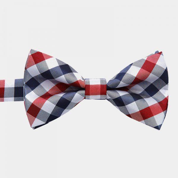 Red Checkered Pre-Tied Bow Tie from Gentlemansguru.com