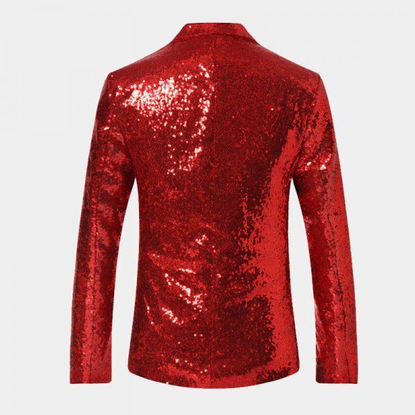 Red Sequin Tuxedo Blazer For Men from Gentlemansguru.com