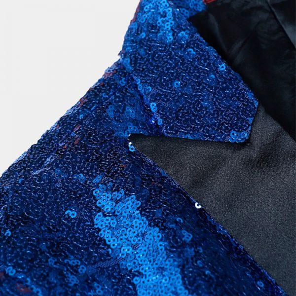 Royal Blue Sequin Tuxedo Blazer from Gentlemansguru.com