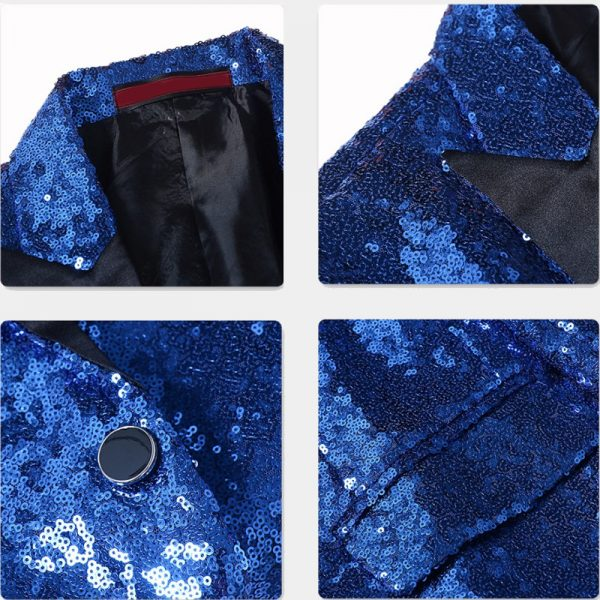 Royal Blue Sparkly Tuxedo Jacket from Gentlemansguru.com