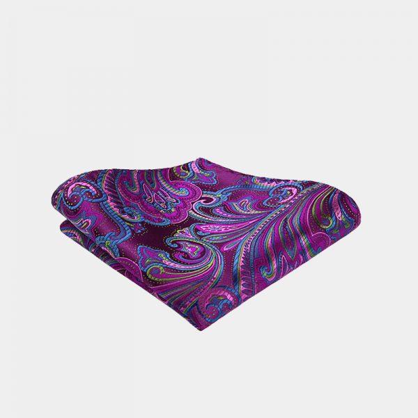 Violet Paisley Pocket Square from Gentlemansguru.com