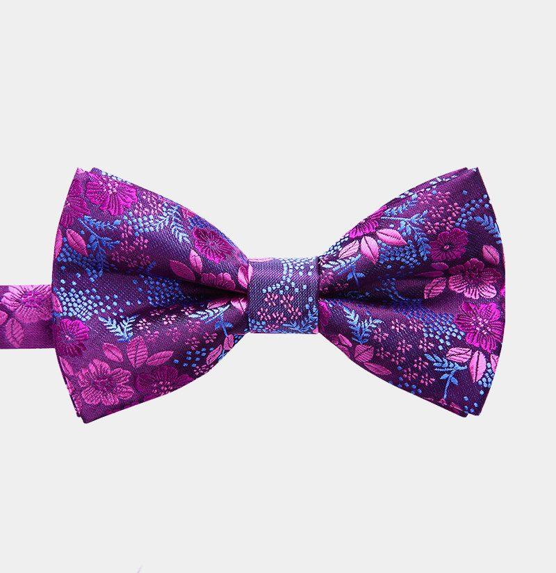 Violet Purple Paisley Pre-Tie Bow Tie from Gentlemansguru.com