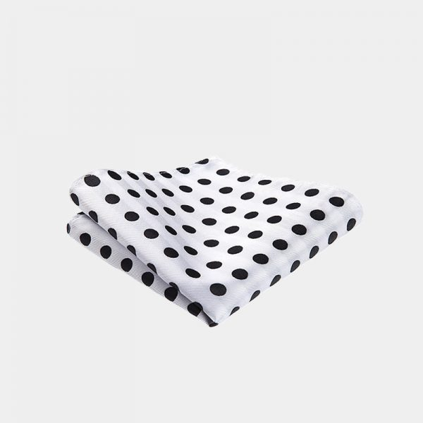 White Polka Dot Pocket Square from Gentlemansguru.com