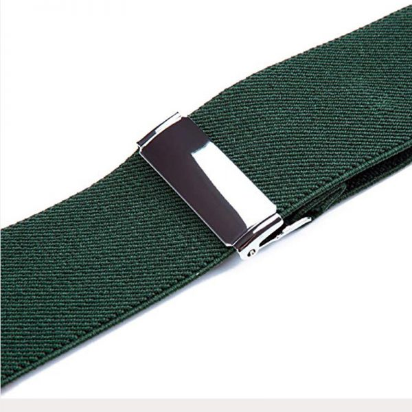 Adjustable Army Green Double Clip Suspenders from Gentlemansguru.com
