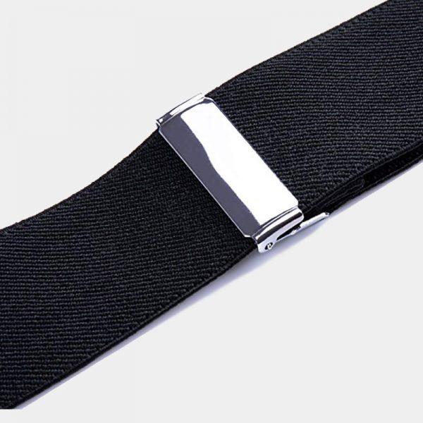 Adjustable Black Dual Clips double Up Suspenders from Gentlemansguru.com