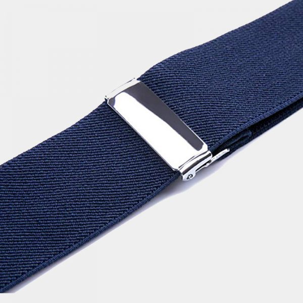 Adjustable NAvy Blue Double Clip Suspenders from Gentlemansguru.com