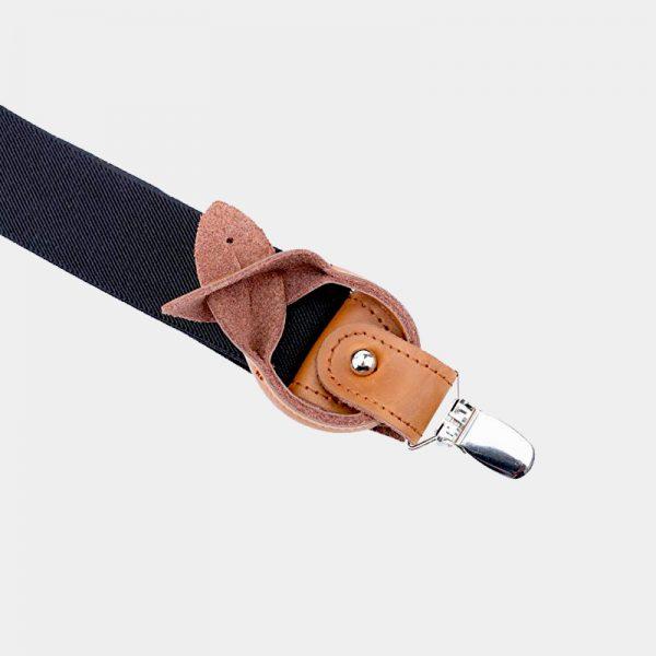 Best Mens Black Button End Suspenders from Gentlemansguru.com