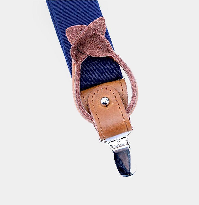 Best Mens Navy Blue Button End Suspenders from Gentlemansguru.com