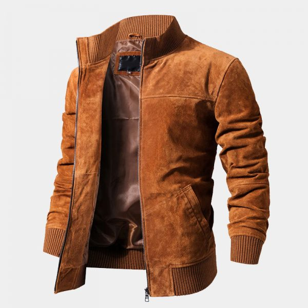 Brown Suede Jacket Coat from Gentlemansguru.com