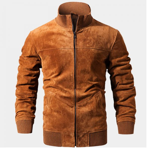 Brown Suede Leather Jacket Coat For Men from Gentlemansguru.com