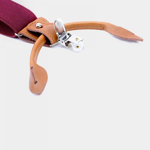 Classic Burgundy Button End Suspenders from Gentlemansguru.com