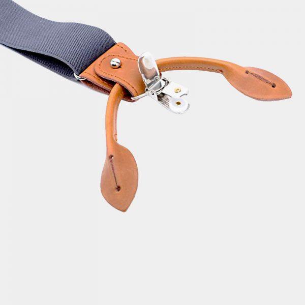 Classic Gray Button End Suspenders from Gentlemansguru.com