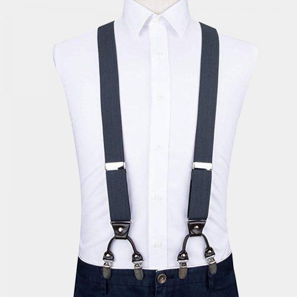 Gray Dual Clip Suspenders from Gentlemansguru.com