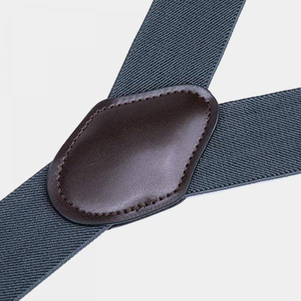 Gray Wedding Tuxedo Double Clip Suspenders from Gentlemansguru.com