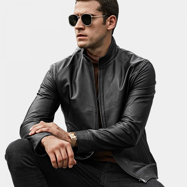 Lambskin Leather Mens Jacket Coat from Gentlemansguru.com