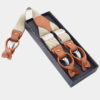 Mens Beige Button End Suspenders from Gentlemansguru.com