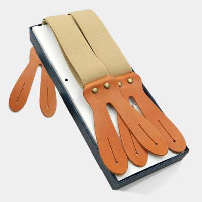 Mens Beige Button Suspenders from Gentlemansguru.com.jpg