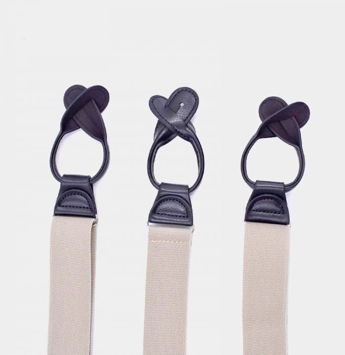 Mens Beige Button end Suspenders from Gentlemansguru.com