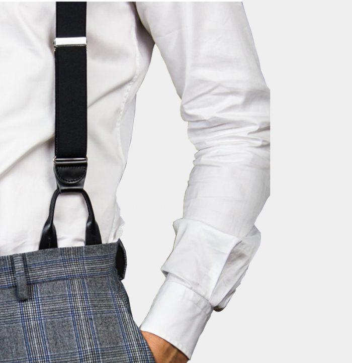 Mens Black Button On Suspenders Braces from Gentlemansguru.com