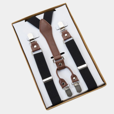 Mens Black Classic Suspenders from Gentlemansguru.com
