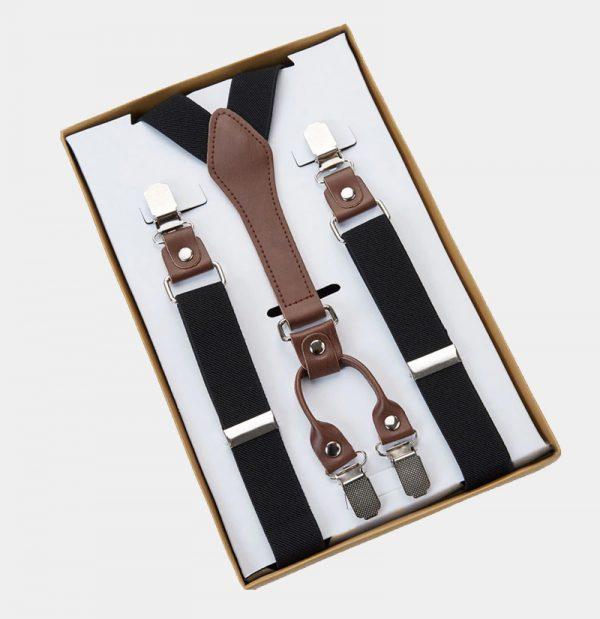 Mens Black Classic Suspenders from Gentlemansguru.com
