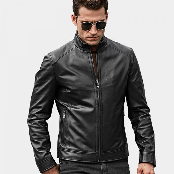 Mens-Black-Lambskin-GenuineLeather-Jacket-from-Gentlemansguru.com
