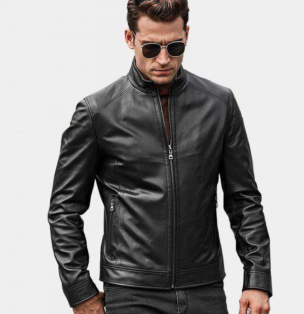 Mens-Black-Lambskin-GenuineLeather-Jacket-from-Gentlemansguru.com