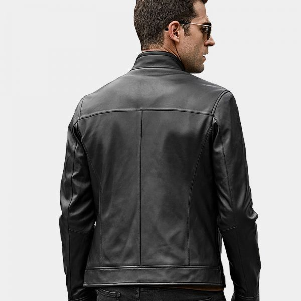 Men's Black Lambskin Leather Coat Jacket from Gentlemansguru.com