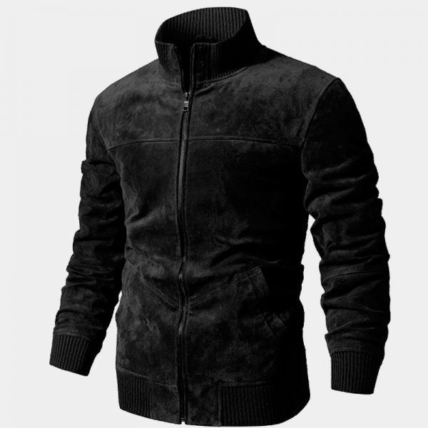 Mens Black Suede Coat Jacket from Gentlemansguru.com
