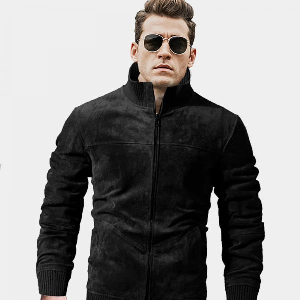 Mens Black Suede Jacket from Gentlemansguru.com