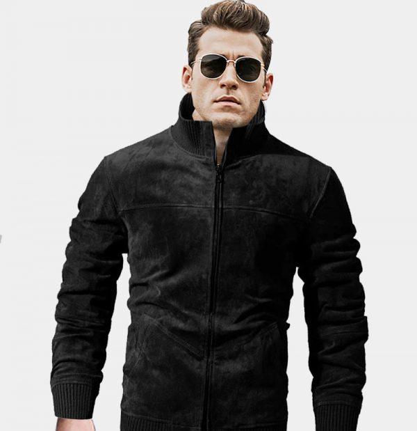 Mens Black Suede Jacket from Gentlemansguru.com