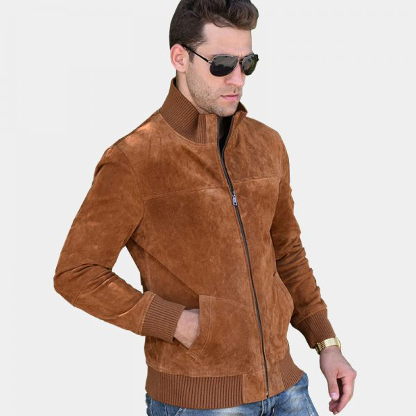 Mens Brown Suede Coat Jacket from Gentlemansguru.com