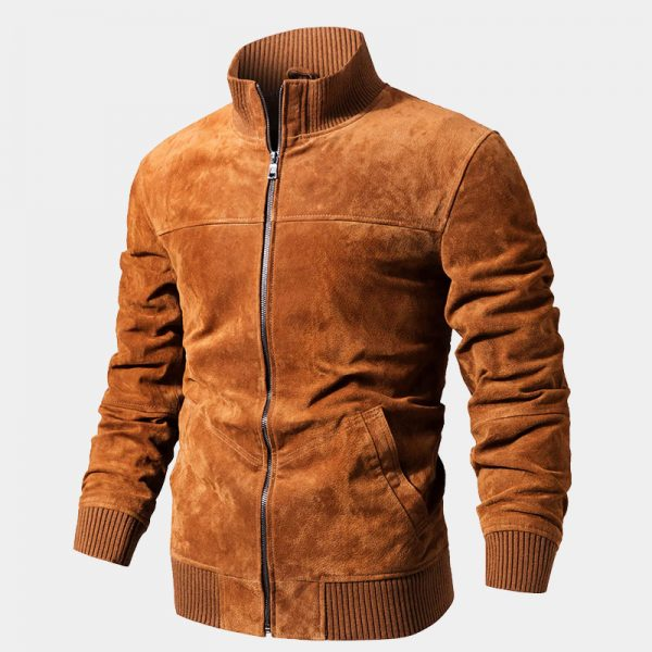 Mens Brown Suede Leather Jacket Coat from Gentlemansguru.com