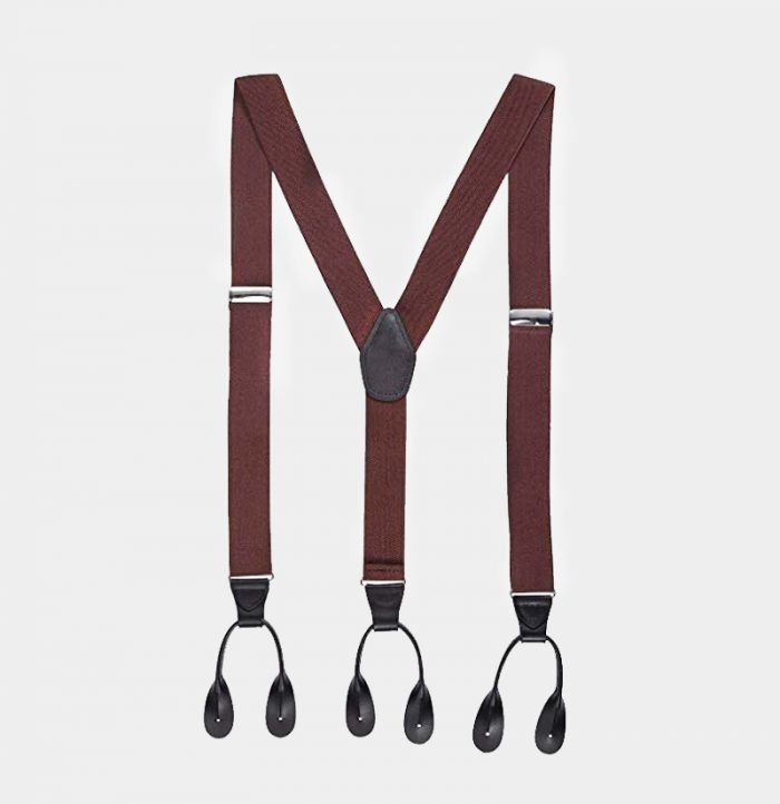 Mens Button Button Suspenders Braces With Black Leather For Pant from Gentlemansguru.com
