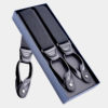 Mens Classic Black Button Suspenders from Gentlemansguru.com
