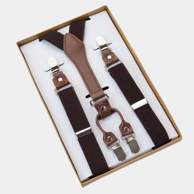 Mens Classic Dark Brown Suspenders from Gentlemansguru.com