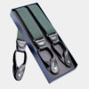 Mens Hunter Green Button Suspenders from Gentlemansguru.com