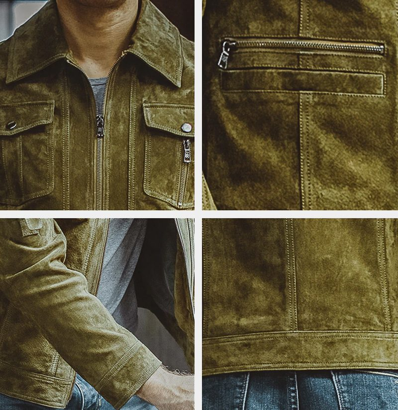Men's Hunter Green Leather Jacket from Gentlemansguru.com