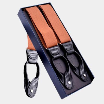Mens Orange Button Suspenders from Gentlemansguru.com