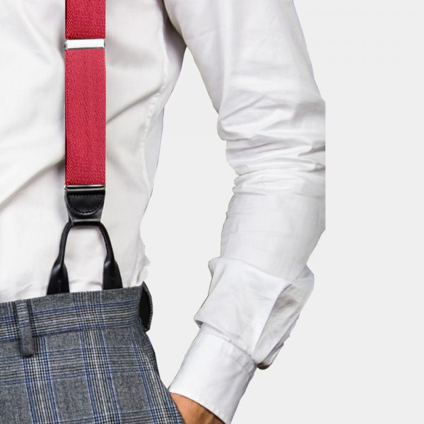 Mens Red Button On Suspenders Braces from Gentlemansguru.com