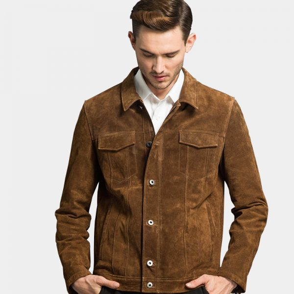 Men's Suede Brown Leather Jacket For Men from Gentlemansguru.com