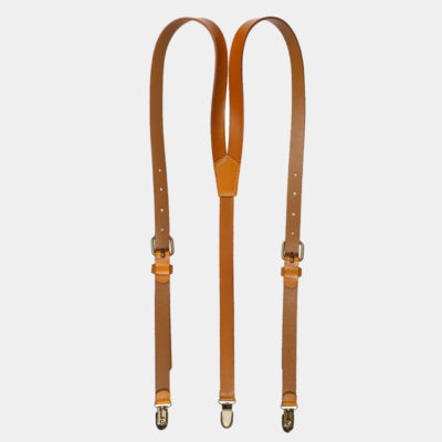 Mens Vintage Brown Leather Suspenders from Gentlemansguru.com