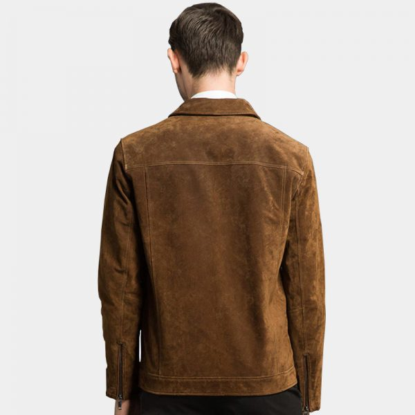 Mens Vintage Brown Suede Leather Coat from Gentlemansguru.com
