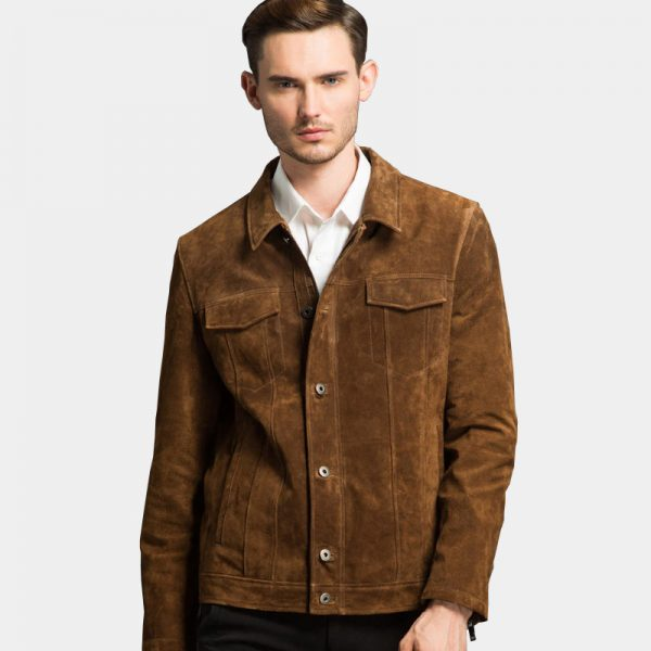 Men's Vintage Brown Suede Leather Jacket For Men from Gentlemansguru.com