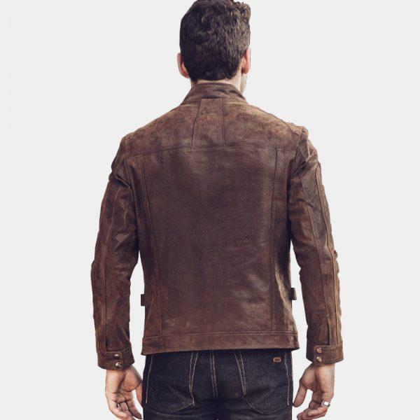 Mens Vintage Dark Brown Leather Jacket Coat from Gentlemansguru.com