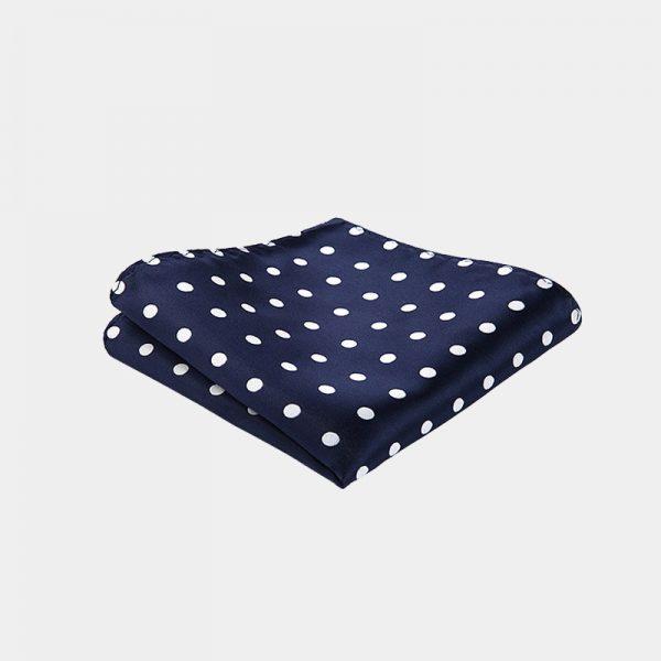 Navy Blue Polka Dot Pocket Square from Gentlemansguru.com