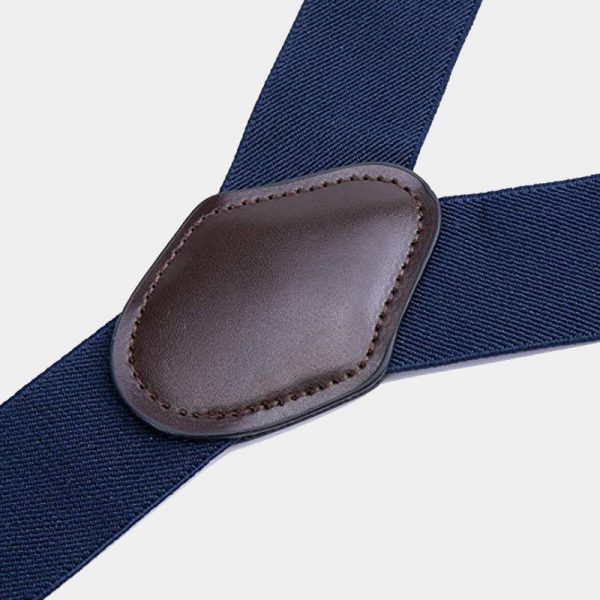 Navy Blue Wedding Tuxedo Double Clip Suspenders from Gentlemansguru.com